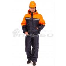 Костюм рабочий утепленный «Стимул» т.синий/оранж