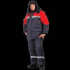 Костюм рабочий утепленный «Мастерок 2» серый-красный