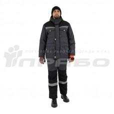 Костюм утепленный мужской «Профессионал 2» серый/черный
