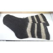Шерстяные носки машинной вязки с узором(собачьи)