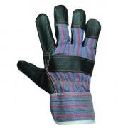 Перчатки комбинированные . кожаные