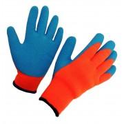 Перчатки нейлоновые с рифленым покрытием
