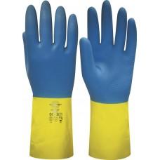 """Перчатки """"НЕОЛАТ"""" р.S,M,L,XL (смесь неопрена и латекса, хлопковый слой, толщ.0,70мм,дл.320мм."""
